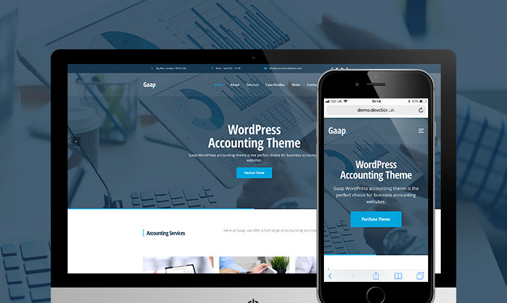 Gaap WordPress Accounting Theme